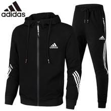 2021 original de alta qualidade adidas primavera esportivas com capuz cardigan duas peças solto grande tamanho cas