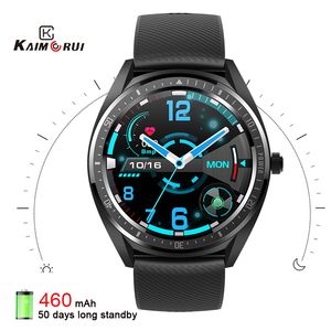 Image 1 - 2020 K33 Smart Watch men 1.28 Full Touch Screen 460mAh Long Standby 8 Sport Mode Heart Rate Monitor Smartwatch For Andriod IOS