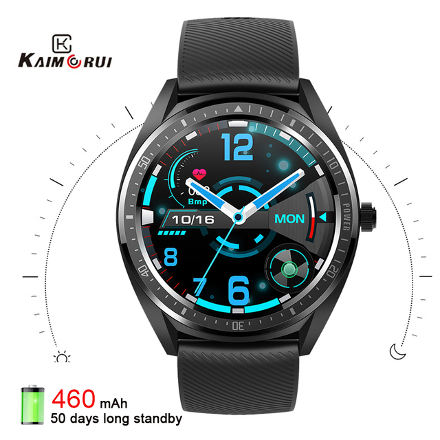 2020 K33 Smart Watch men 1.28 Full Touch Screen 460mAh Long Standby 8 Sport Mode Heart Rate Monitor Smartwatch For Andriod IOS