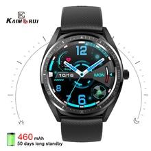 2020 K33 akıllı saat erkekler 1.28 tam dokunmatik ekran 460mAh uzun bekleme 8 spor modu nabız monitörü Smartwatch android için IOS
