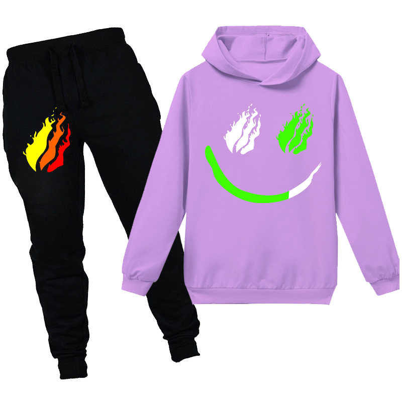 New 2PCS Boys Girls PRESTONPLAYZ Casual Hooded Kids Hoodies Tops+Pants Sets