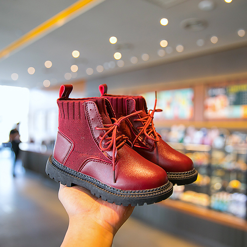 Fashion Ankle Boots Girl Big Boys Shoes Kids Martin Boots 2019 New Children Autumn Shoes Sneaker 3 4 5 6 7 8 9 10 11 12 Year Old