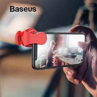 Lentes de teléfono Baseus lente ojo de pez + gran angular + lente de cámara Macro 15X para iPhone X XS Samsung Xiaomi lente de Zoom para Selfie de Huawei