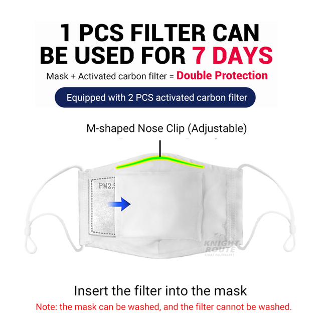 Motorcycle Face Mask Protection Mouth Caps Balaclava Dust Face Shield Digital Printing Activated Carbon Filter Moto Reusable 3