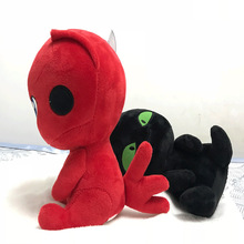Ladybug Plush Toy Kawaii Anime Doll Black Cat Fur Animal Child Birthday Gift