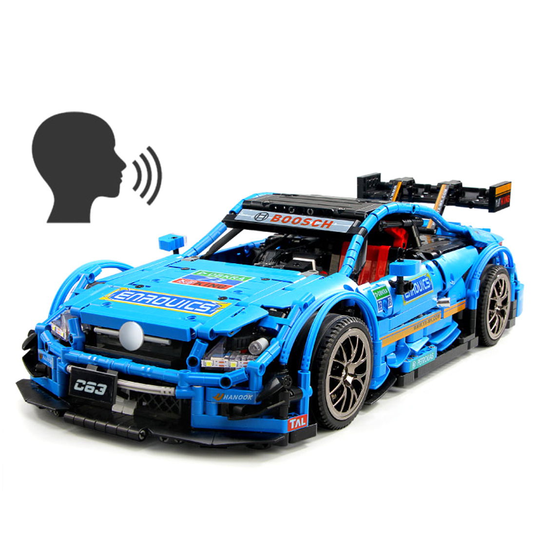 1989Pcs 1:8 MOC-6687 2.4G DIY Assembly Sports Car Building Block Construction Kit With Remote Control Programming