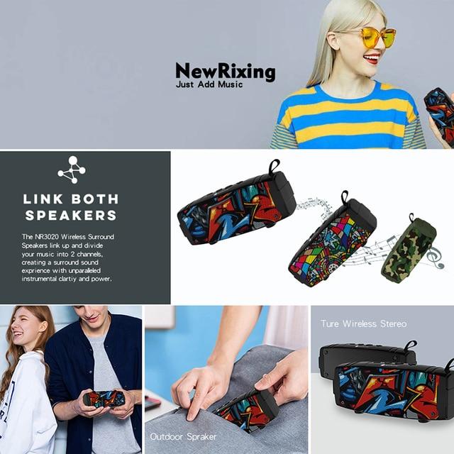 New Portable Bluetooth Speaker Wireless Mini Column For Phone Computer Outdoor Loudspeaker Stereo Music Surround Bass Speaker Consumer Electronics