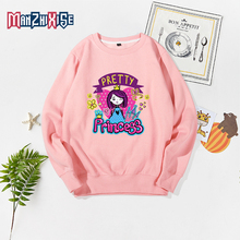 Limited Time Discount Long Sleeve Sweatshirts Pullover Clothing Kids Tops Girl Cartoon Cute Princess Printing Childrens Clothes