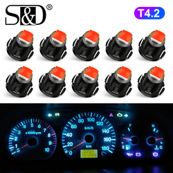 10pcs T4.2 LED Bulb T4 Super Bright High Quality LED Car Board Instrument Panel Lamp Auto Dashboard Warming Indicato