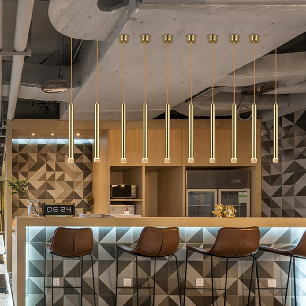 LED Strip Luxury Copper Pendant Spotlights Ceiling Pendant Lights
