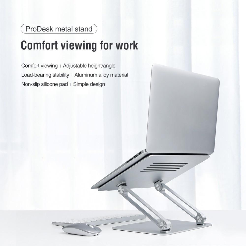 Portable Adjustable Aluminum Alloy Notebook Laptop Holder Foldable Lift Desktop Stand Computer Stand Heat Dissipation