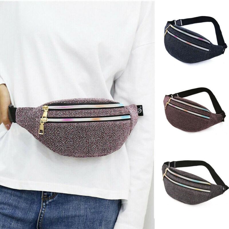 Women Men Casual Waist Pack Zipped Outdoor Sports Shoulder Bag Pouchs Travel Bum Bags Unisex Solid Color Fanny Packs 2020 New