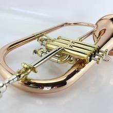 New Bb Flugelhorn Gold Phosphorus& Copper Flugelhorn Musical Instruments with Case Mouthpiece