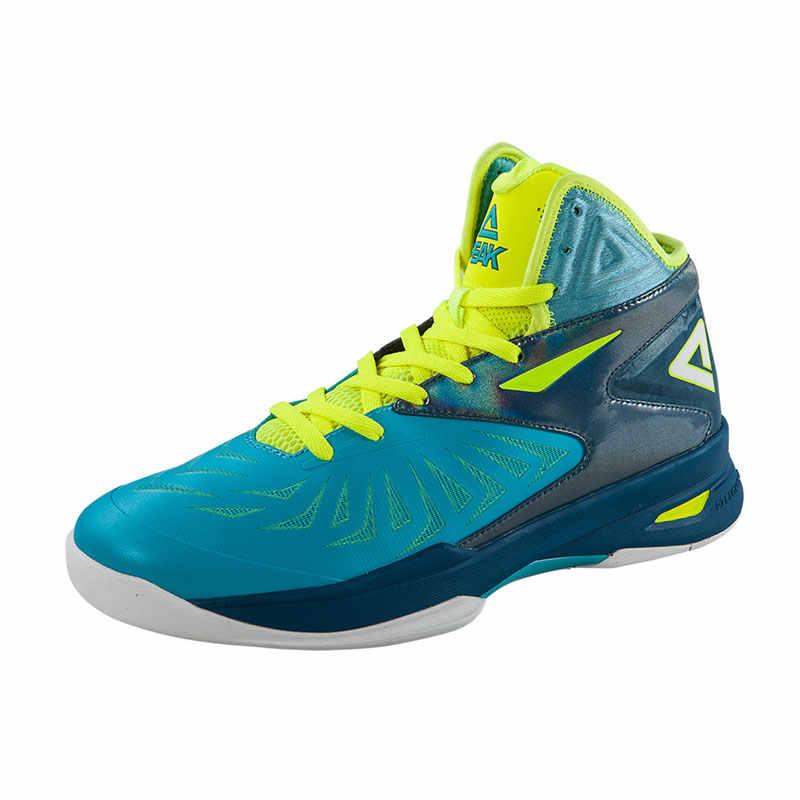 שיא אותנטי גברים של כדורסל נעלי מקצועי ריפוד קרסול הגנה גבוהה כדורסל נעליים אנטי להחליק אימון סניקרס