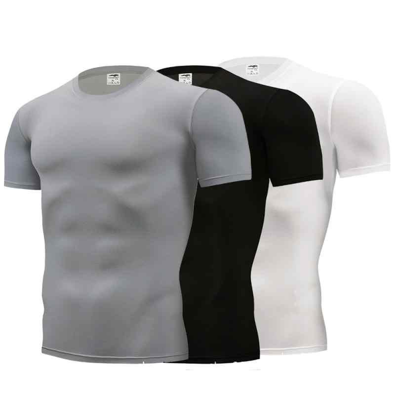 Hemd Homme Laufschuhe Männer Designer Schnell Trockenen T-Shirts Laufende Slim Fit Tops Tees Sport männer Fitness Gym T Shirts muscle T Neue 8