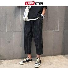 Harem Pants Vintage Black Men Harajuku Striped Male Fashions LAPPSTER Wide-Leg Hip-Hop