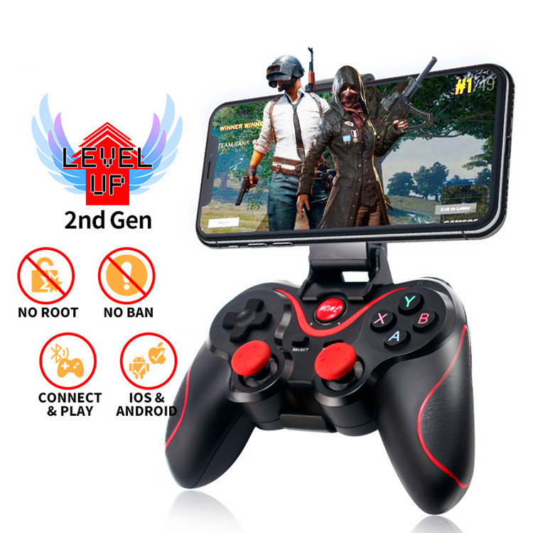 Wholesale T3 Wireless Joystick Gamepad Game Controller Bluetooth BT3.0 Joystick For Mobile Phone Tablet TV Box Holder For PC(China)