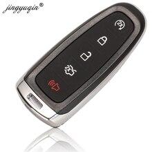 Jingyuqin 10pcs FO38 Hu101 5 ปุ่ม REMOTE Smart Key FOB สำหรับ Ford Explorer EDGE Escape Flex taurus 2011 2015