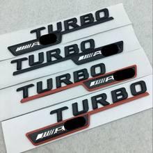 Значок эмблемы ABS 3D Turbo AMG, автомобильные наклейки, модификация кузова автомобиля, наклейки для Mercedes Benz, автомобильные аксессуары