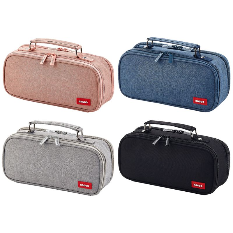 Pencil Case Cosmetic Bag Double Layer Large Capacity Makeup Pouch School Office