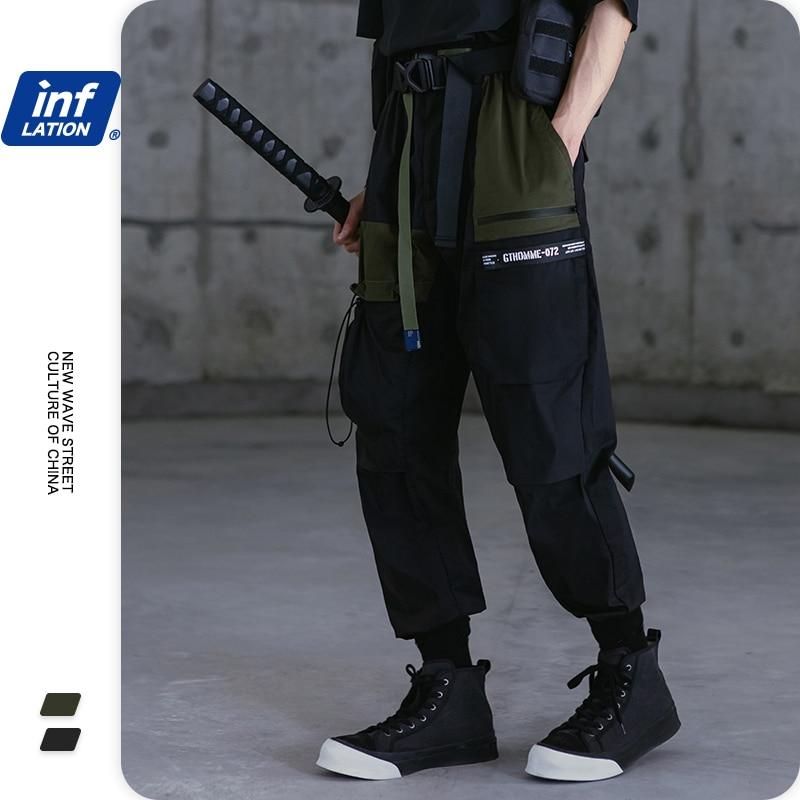 INFLATION Streetwear Techwear Men Joggers Multi Pockets Mens Cargo Pants Back Streets Of Harajuku Techwear Men Cargo Pants 3123