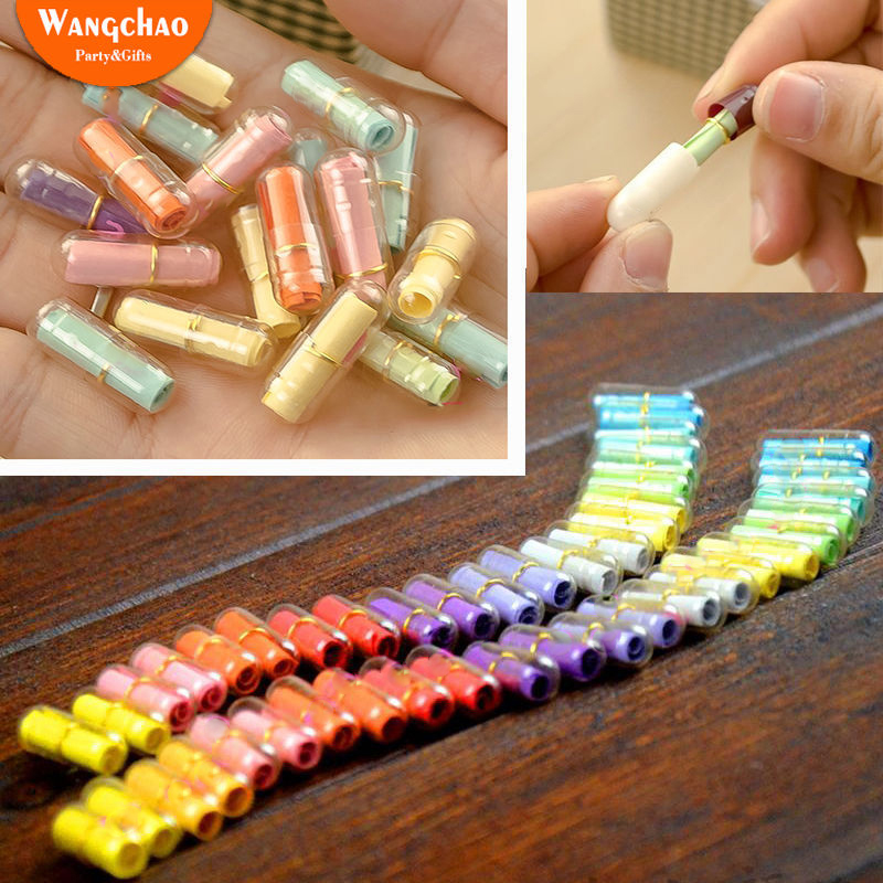50pcs/bag Mini Expression Message Capsule Colorful Heart Event Kids Birthday Party Favor Surprised Gift For Girlfriend Boyfriend