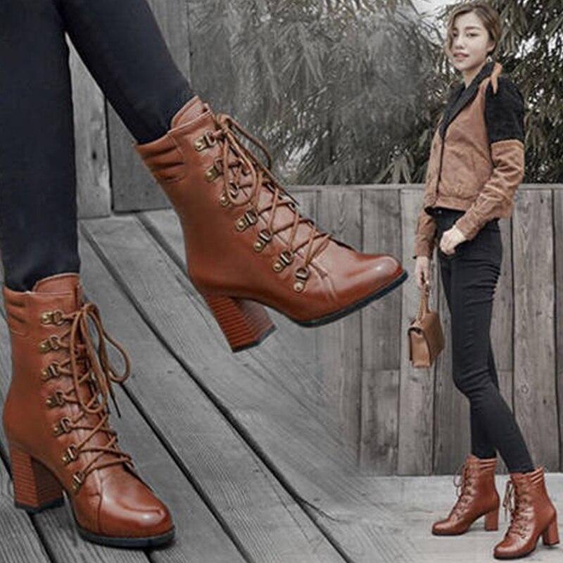 Обувь; женские зимние теплые ботильоны на меху; ботинки из искусственной кожи; женская повседневная обувь; женские ботинки; цвет черный, кор...