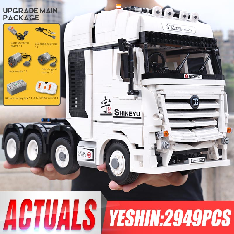 Hongkong Yu Ji LepinBlocks Truck Car Compatible <font><b>42043</b></font> <font><b>Technic</b></font> Benzs Arocs Model Building Bricks Educational Toys Christmas Gift image