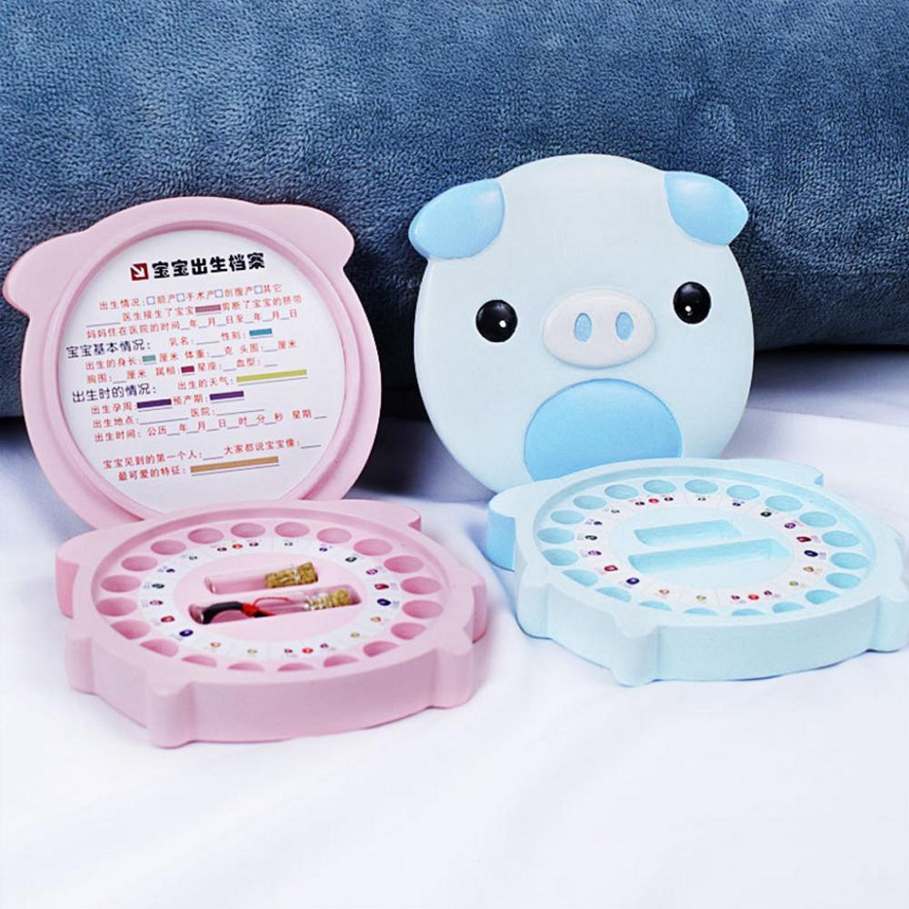 Baby Deciduous Teeth Keepsake Box Kids Memory Storage Souvenirs Organizer Toddler Growing Commemorate Collectibles Gift