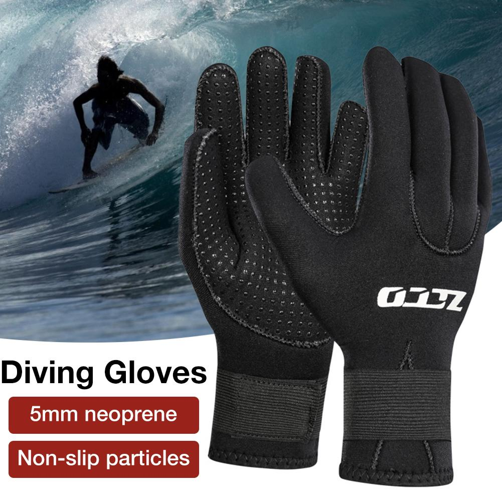 5MM Neoprene Diving Gloves Wear-resistant Spearfishing Swimming Scuba Div Snorkeling Mittens Non-slip For Boating Surfing Gloves