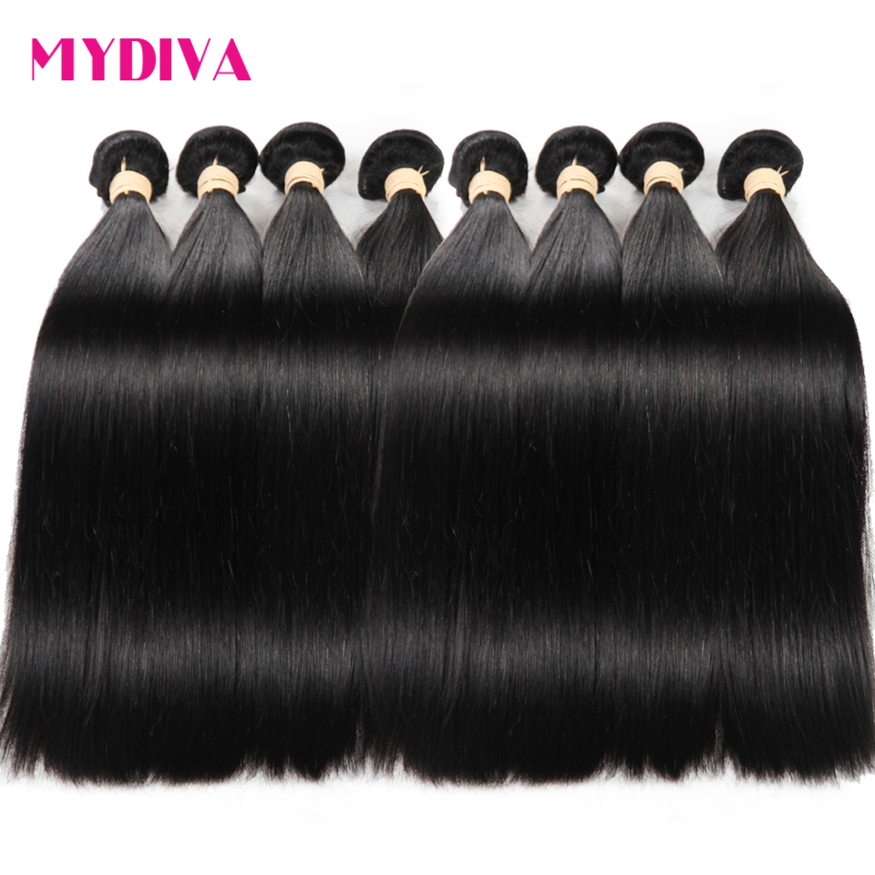 Wholesale Brazilian <font><b>Hair</b></font> Weave Bundles Straight Non Remy Human <font><b>Hair</b></font> Extension Natural Color 8 To 30 32 Inch <font><b>10</b></font> Bundles Deals image