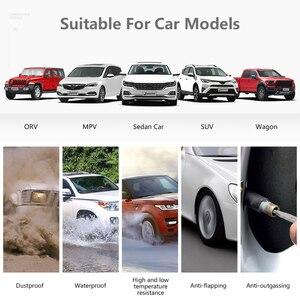 Image 4 - نظام مراقبة ضغط الإطارات للسيارات TPMS يعمل بالطاقة الشمسية مع منفذ USB وشاشة LCD 4 مستشعر يلتصق بالزجاج لسيارة VW Toyota Honda SUV مع تحذير من درجة الحرارة