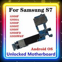 Placa base S7 para Samsung Galaxy S7 G930F/G930A/G930P/G930T/G930V/G930FD G930W8/F, placa base de 32gb, Android
