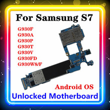 S7 anakart Samsung Galaxy S7 G930F/G930A/G930P/G930T/G930V/G930FD G930W8/F 32gb anakart Android