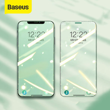 Baseus 2PCS Transparent Protective Glass For iPhone 12 Pro Max Screen Film Eye Protection Full Coverage Tempered Glass Film