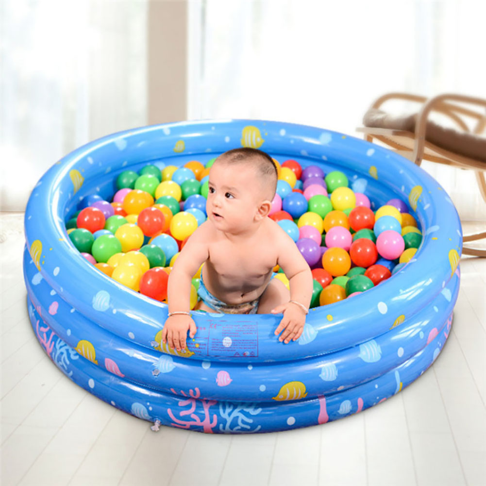 Baby Kids Inflatable Round Swim Pool Safety Float Thickened Ocean Ball Pool Play Swimming Pool Infant Water Floating