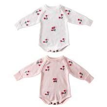 Cute irl Romper Autumn Newborn Baby Romper Long Sleeve Knitted Baby