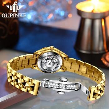 OUPINKE Luxury Gold Mechanical Watch For Women Sapphire Crystal Automatic Watch Ladies Wristwatches Waterproofrelogio feminino 5