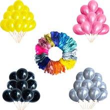 10/20/30 stück 12 Zoll Rose Gold Silber Schwarz Latex Ballons Erwachsene Kinder Geburtstag Party Dekoration Helium Ballons Spielzeug