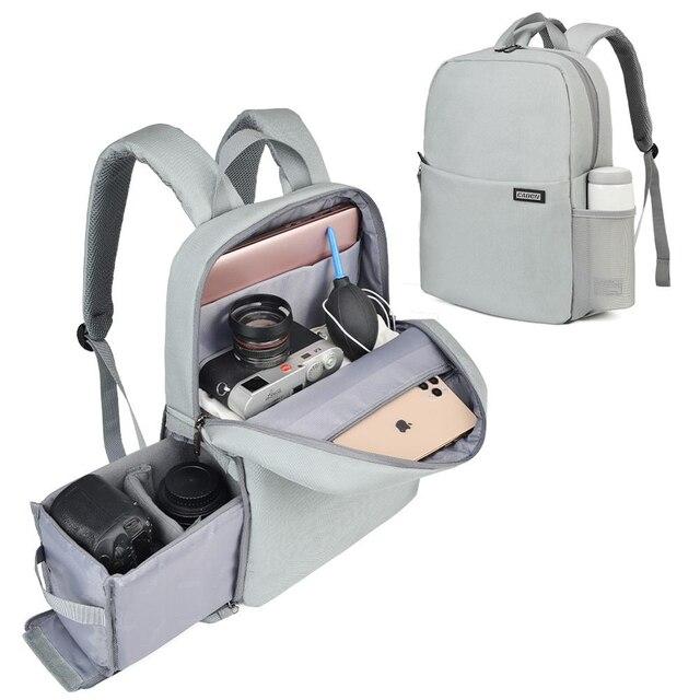 CADeN Dslr appareil photo sac étanche sac à dos épaule ordinateur portable appareil photo numérique lentille photographie bagages sacs étui pour Canon Nikon Sony