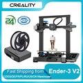 Creality 3D Ender-3 V2 3D-принтеры комплект цельнометаллический интегрированный Структура бесшумный материнская плата новый пользовательский интер...