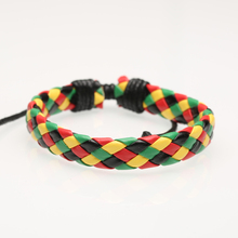 Leather bracelet multi-color optional PU simple woven student anti-cowhide bracelet bracelet adjustable male and female bracelet