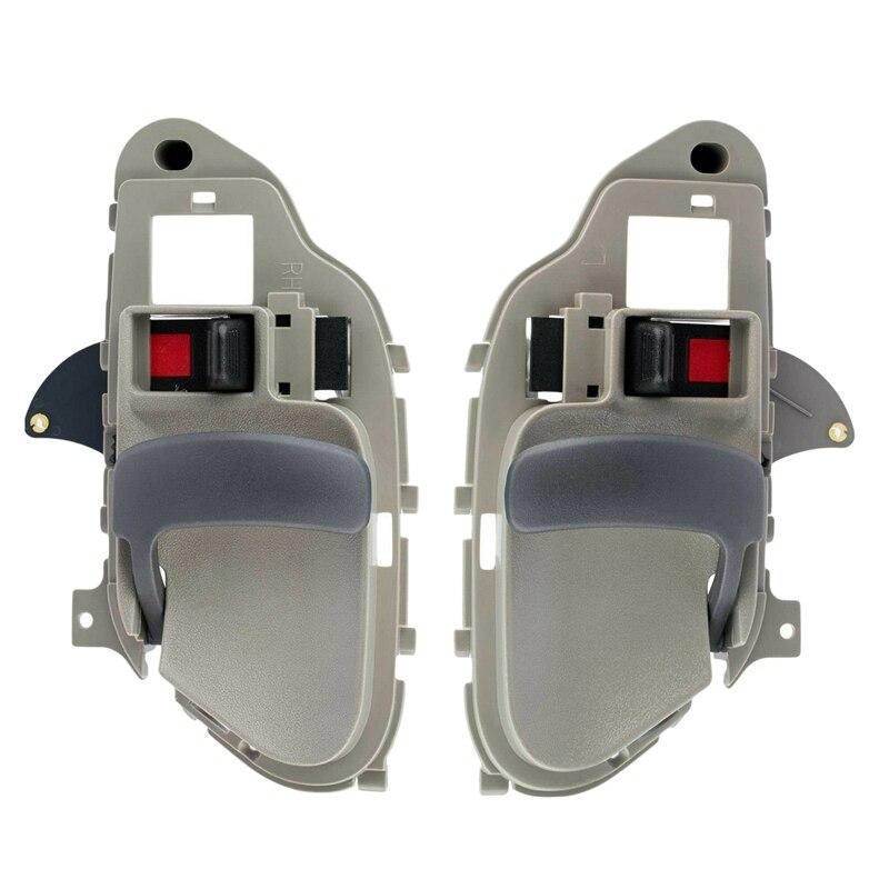 Alças de porta interior interior cinza lh & rh par conjunto para chevy gmc tahoe yukon 15708043 15708044
