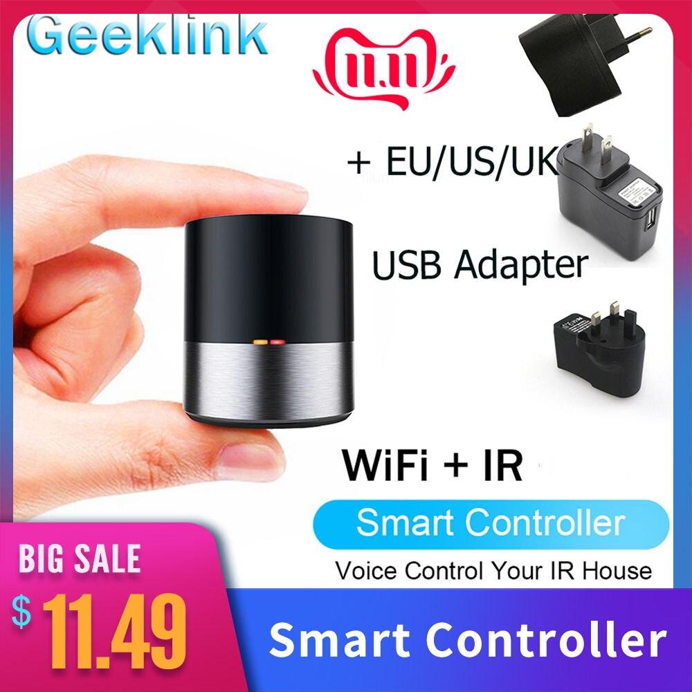 Geeklink Smart Home Remote Control For AC TV Air Conditioner Wifi APP Control for Amazon Alexa Google Home with US EU UK Plug
