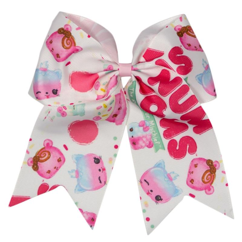 6 inch cute print hair bows fashion product headband for girls