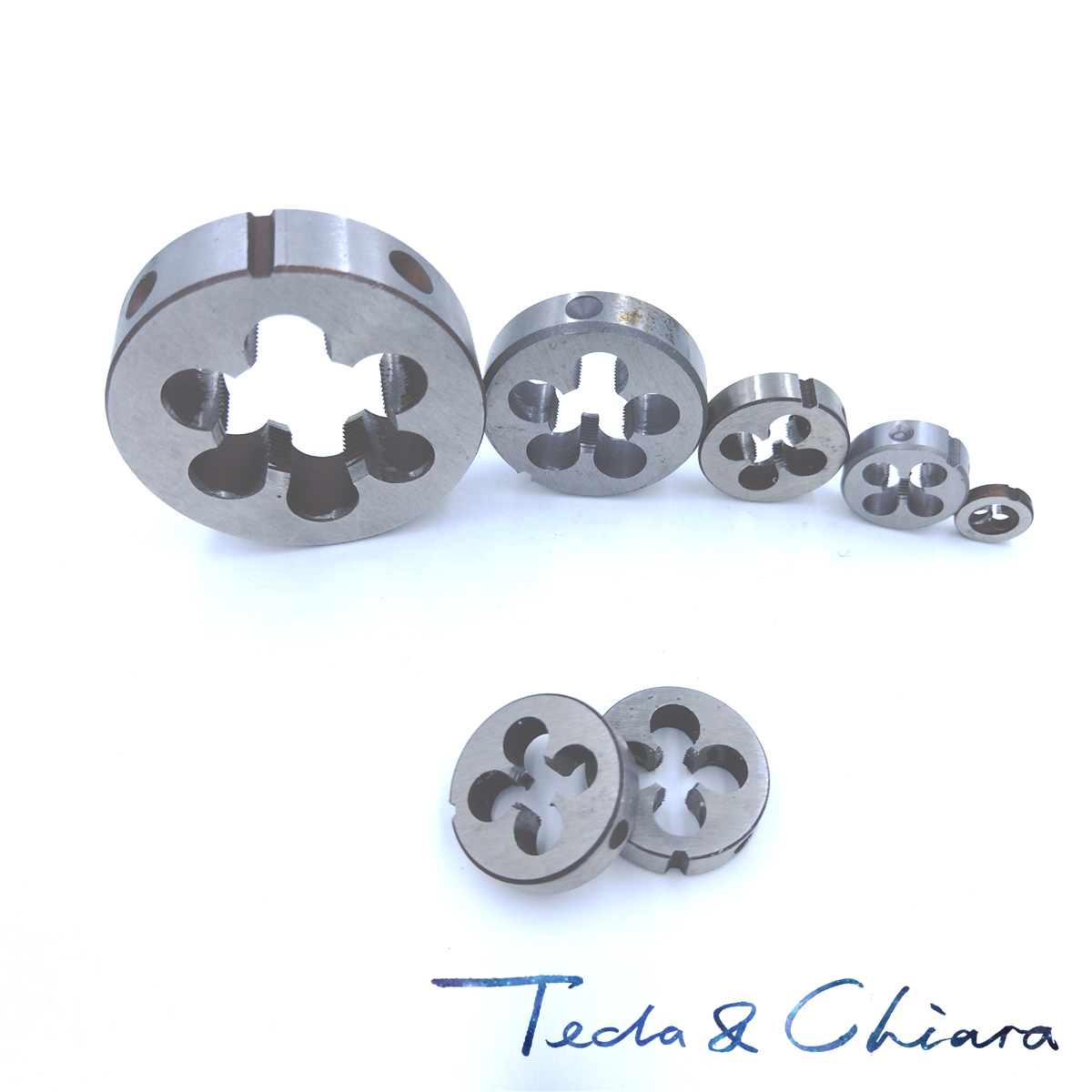5pcs Machining Tools Thread Die 10mm Alloy Steel M10 x 1 mm Round Dies