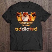 Men Funny T Shirt Fashion tshirt Pomeranian Addicted Women t-shirt