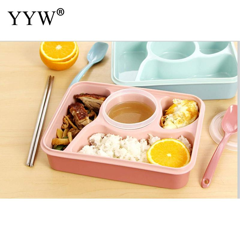Modern Lunch Box Tableware Food Container Multi-Functional Lattice Durable Bento Lancheira 241x182x69mm Kitchen Accessories
