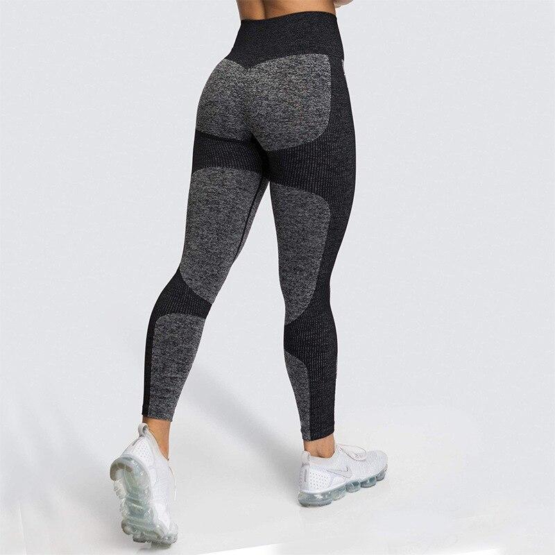 Women Fashion Seamless Energy Vital High Waist Gym Fitness Push Up  Sports Pants Athleticp Clothing