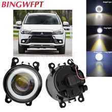 2pcs NEW Car styling Angel Eyes front bumper LED fog Lights with len For Mitsubishi ASX 2017 2018